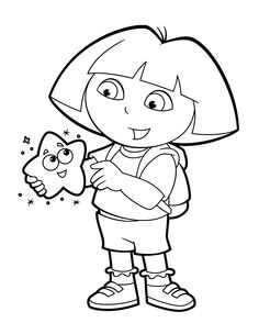 dora carnival coloring pages - photo#44