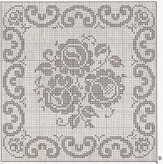 Hobby lavori femminili - ricamo - uncinetto - maglia: Schemi cuscini a Filet