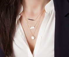 Silver Layered and Long Initial Necklaces / by LayeredAndLong