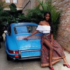 Sira Kante, a beautiful model from Guinea was born on February 1996 in United States. Porsche 912, Porsche Girl, Porsche Models, African Beauty, African Women, African Fashion, Porsche Collection, Black Girl Magic, Black Girls