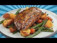 Hähnchen auf Gemüse Bett - mit dem Rezept für selbst gemachte Marinade - YouTube