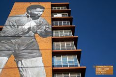 Mandela Shadow Boxer Mural Johannesburg South Africa
