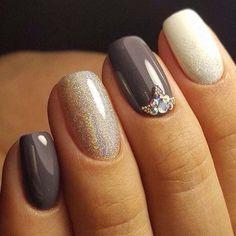 neutral shaded nail art