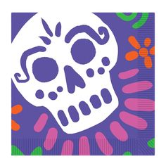DAY OF THE DEAD LUNCHEON NAPKI