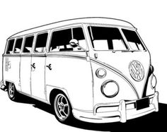 coloriages de bagnoles combi volkswagen a colorier bus malbuch pinterest coloriage de. Black Bedroom Furniture Sets. Home Design Ideas