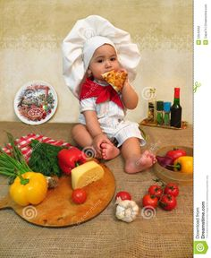 Baby Boy Dressed As A Cook Stock Photo - Image: 53542562