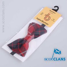 Wool bow tie in Hamilton Modern tartan - from ScotClans