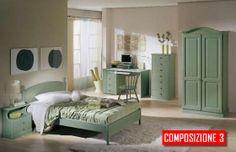 Camera in legno massello color verde adatta a camere in stile rustico, per B&B, Alberghi e strutture ricettive in genere  Merce di ottima qualità a ottimo prezzo