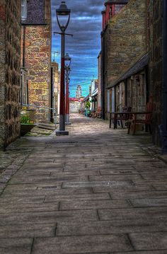 Beautiful street scene in Aberdeen. Done with HDR photography. Places Around The World, Oh The Places You'll Go, Places To Travel, Places To Visit, Around The Worlds, Aberdeen Scotland, Scotland Travel, Scotland Trip, Beautiful Streets