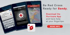 Awesome how digital is upping the ante for disaster safety. Props to the American Red Cross for creating a safety app for tips during Sandy.    Image Cred: http://www.redcross.org/pa/philadelphia