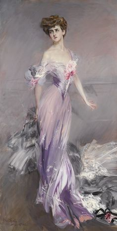 Portrait of Mrs Howard Johnston ~ Giovanni Boldini (Italian, 1842-1933; known as the 'Master of Swish')