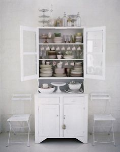 White Kitchen Hutch Cabinet Fine Amazing Stunning For Espan inside white kitchen hutch intended for Household China Cabinet, Interior Inspiration, Cabinet, Furniture, Interior, Vintage Kitchen, White Rooms, Kitchen, Home Decor
