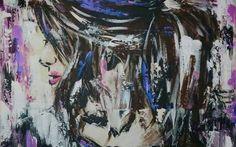 """Anonymat (5)  Acrylique sur toile, 24""""X 24"""", par Em Lacrylic.  https://m.facebook.com/PageDEmLacrylic/"""