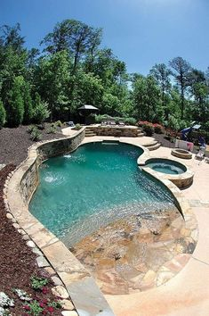56 Incredible Small Indoor Pool Design Ideas In Your Home > Fieltro. Cozy Backyard, Backyard Pool Landscaping, Backyard Pool Designs, Small Backyard Pools, Small Pools, Swimming Pools Backyard, Swimming Pool Designs, Backyard Ideas, Landscaping Ideas