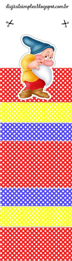 Snow White with Polka Dots: Free Printable Original Nuggets or Gum Wrappers.