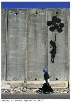 "Banksy - ""Israeli Separation Wall"". Via Real Art of Street Art."