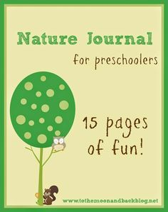 FREE Printable Nature Journal for Preschoolers - To the Moon and Back