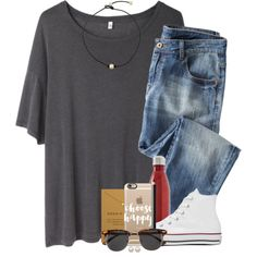 here's to life ☺️ by ellapearlrose on Polyvore featuring R13, Wrap, Converse, Dogeared, Honora, Casetify, H&M, NARS Cosmetics and S'well