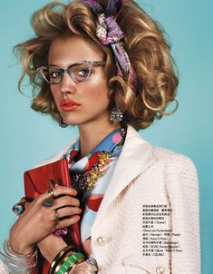 / Hanna Wahmer Pops in Retro Chic Style for Naomi Yangs Vogue Taiwan