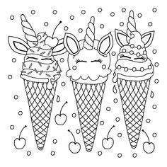Here are the Amazing Free Printable Coloring Pages For Kids. This post about Amazing Free Printable Coloring Pages For Kids was posted . Ice Cream Coloring Pages, Coloring Pages For Grown Ups, Summer Coloring Pages, Unicorn Coloring Pages, Printable Adult Coloring Pages, Coloring Pages For Girls, Coloring Book Pages, Coloring For Kids, Colouring Sheets