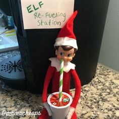 Elf Drinks KCup Coffee More