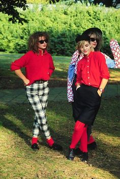 Remembering the short-lived trend of RED with black and white. Thank you Banarama