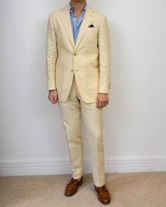 Kent Wang unstructured linen suit (W. Bill 60149) Kent Wang linen/cotton shirt Kent Wang The Great Wave pocket square Kent Wang handgrade penny loafer