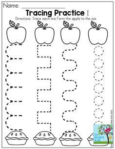 September preschool, Preschool apple activities and September themes Alphabet Kindergarten, Preschool Writing, Fall Preschool, Preschool At Home, Preschool Lessons, Preschool Classroom, Preschool Apples, Preschool Tracing Worksheets, September Preschool Themes