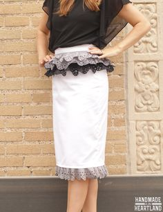 Ombre Lace Ruffle Skirt made with Cricut Explore -- Homemade in the Heartland. #DesignSpaceStar Round 2