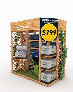 Isla promoción Verano 2016Marca: Corona ModeloMaterial: Madera Pos Display, Display Design, Booth Design, Store Design, Point Of Purchase, Point Of Sale, Bergen, Marketing Merchandise, Pos Design