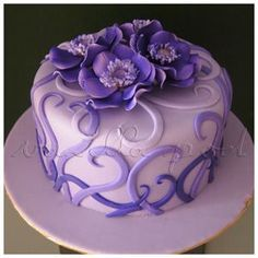 cake designs for a woman single layer - Google Search