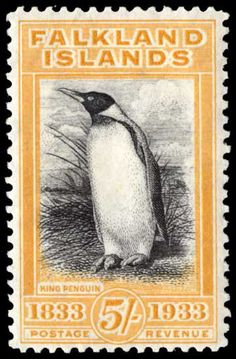 Falkland Islands King Penguin, one of the world's most beautiful stamps