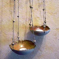 Hängelampen - Hängendes Windlicht *mittel* aus Keramik - ein Designerstück von beckkeramik bei DaWanda