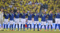 Ecuadorean national football players are seebn before their FIFA World Cup Brazil 2014 qualifying match against Colombia at Metropolitano st...http://1502983.talkfusion.com/product/