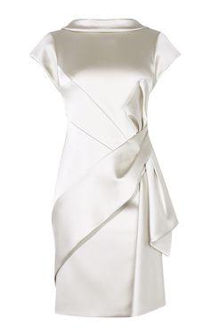 SATIN FOLD MINI DRESS   Karen Millen