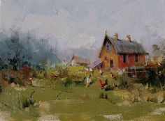 "Daily Paintworks - ""Old Barn"" - Original Fine Art for Sale - © Mostafa Keyhani"