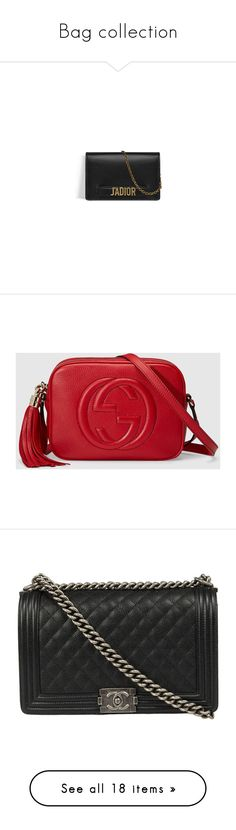 """Bag collection"" by imadeintheuk ❤ liked on Polyvore featuring Givenchy, Prada, ChristianDior, saintlaurent, gucci, bags, handbags, calf leather handbags, calfskin leather handbags and calfskin bag"