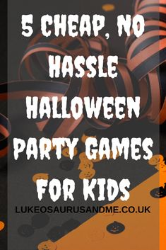 5 cheap, no hassle Halloween party games that are great for parents on a budget! Cheap and cheerful Halloween party games that will keep kids happy. Haloween Party Games, Halloween School Treats, Halloween Activities For Kids, Childrens Party Games, Kids Party Games, Cheap Halloween, Halloween Kids, Halloween Stuff, Halloween Traditions