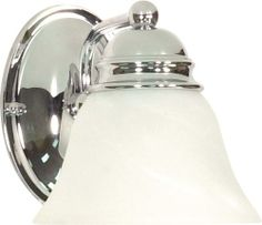 Photon 1 Light 6.25'' Polished Chrome Incandescent Wall Vanity with Alabaster Glass