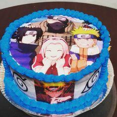 Bolo Do Naruto, Naruto Birthday, Anime Naruto, Birthday Cakes, Otaku, Desserts, Food, Chantilly Cream, White Icing