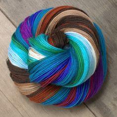 Handspun wool merino yarn.