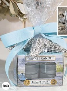 Yankee Candle Starfish Tea Light Gift Set with a Tea Light Holder and 12 BEACH WALK Scented Tea Lights ** Want additional info? Click on the image. #comment