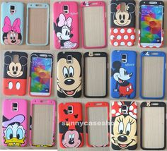 Cute Animal minnie cat Cartoon front back cover case for Samsung Galaxy S5 i9600 #Romrichcaseshop