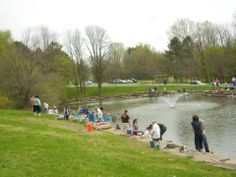 Children and accompanying adults enjoyed a great day of fishing at McDade Park for the 2014 Lackawanna County Children's Fishing Derby.