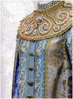 This is a Russian gown, but it's very similar to Byzantine.