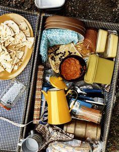 gingham checked picnic box