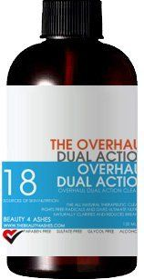Overhaul Dual Action Cleanser by Zap Erase. $22.99. Filled with 12 Plant Active Acne Fighting Ingredients. SLS, SLES, Paraben, Glycol, Chloride and Alcohol Free. No animal testing and hypoallergenic. All Natural and Made Fresh to Order. Filled with 6 Plant Active Age Defying Ingredients. Eliminates acne and stress breakouts while also reducing wrinkles, fine lines, and age spots. Continual surface bacteria, sebum and free radical control in one cleanser. Conditions, clarif...