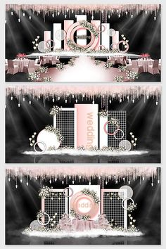 Simple pink wedding effect picture Wedding Backdrop Design, Wedding Stage Design, Wedding Hall Decorations, Wedding Reception Backdrop, Wedding Mandap, Backdrop Decorations, Diy Wedding, Wedding Receptions, Wedding Ideas