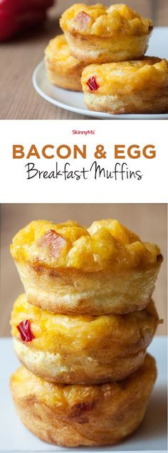 & Egg Breakfast Muffins Bacon & Egg Breakfast Muffins - The Perfect make ahead breakfast for an easier morning.Bacon & Egg Breakfast Muffins - The Perfect make ahead breakfast for an easier morning. Breakfast Desayunos, Breakfast On The Go, Breakfast Dishes, Healthy Breakfast Recipes, Brunch Recipes, Breakfast Casserole, Protein Breakfast, Breakfast Muffins Healthy Egg, Fast Breakfast Ideas