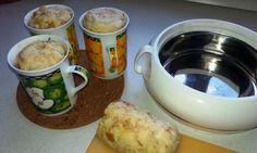 Jednoduchý hrnkový knedlík Dumplings, Pizza, Oatmeal, Chicken, Baking, Breakfast, Food, Breads, Projects